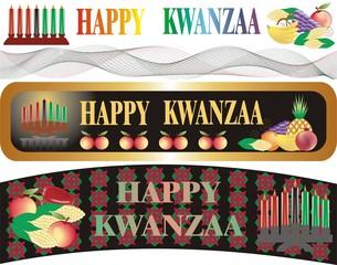 kwanzaa banner in vector