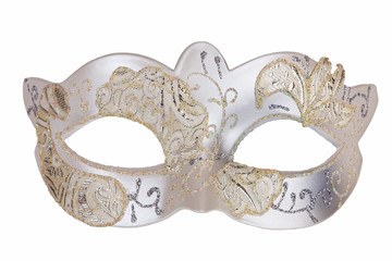 Silvery white carnival mask