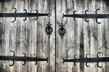 old wooden gates
