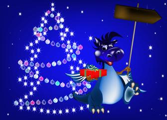 Dark blue dragon a symbol of new 2012