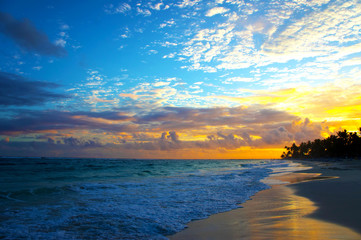 The tropical seascape in the morning