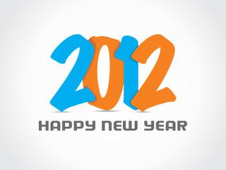happy new year 2012 background