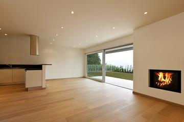 Obraz new apartment, kitchen view - fototapety do salonu