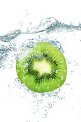 Acrylic Prints Splashing water kiwi splash