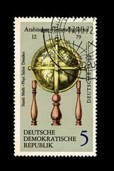 Germany shows Arabischer Himmelsgobus, circa 1972