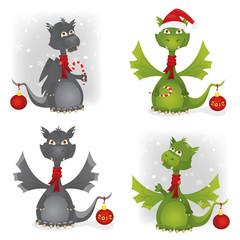 Christmas Dragon set