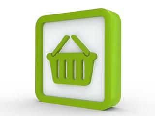 Icon grün Einkaufskorb