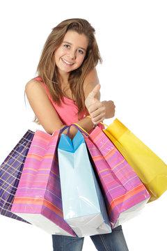 Adolescente OK pour le shopping