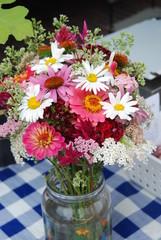 A mixed summer bouquet of flowers at a Farmer's Market