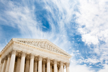 US Supreme Court building with copy space