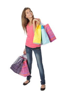 Shopping jeune fille