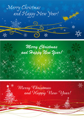 banner natalizi in tre tipi
