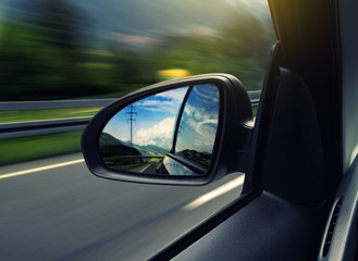 Fototapete - Side Mirror