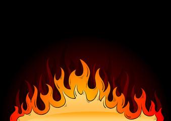 hot flames