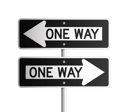 One way board 2