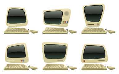 Retro Computer Icon Set