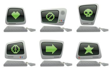 Symbols Retro Computer Icon Set II
