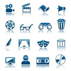 Cinema and theatre icon set