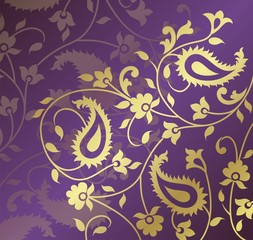 paisley floral pattern textile swatch, Rajasthan, India