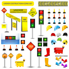 Under Construction Sign Collection. VECTOR