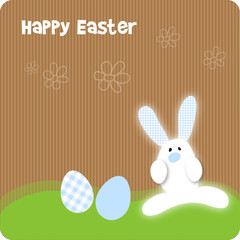 Happy Easter Frohe Ostern Hase Karton