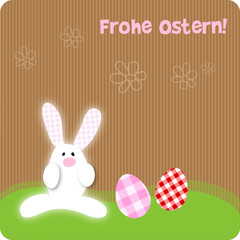 Frohe Ostern Hase Happy Easter Karton