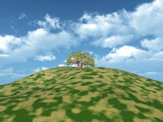 Berg mit Baum