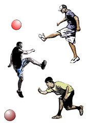 kickball trio