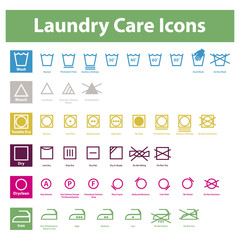Laundry Care Icons