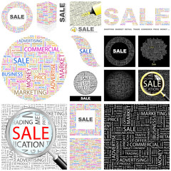 SALE concept illustration. GREAT COLLECTION.
