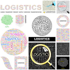 LOGISTICS concept illustration. GREAT COLLECTION.