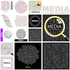MEDIA concept illustration. GREAT COLLECTION.