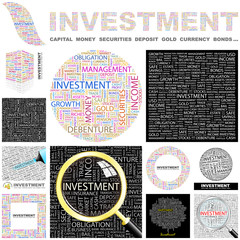 INVESTMENT concept illustration. GREAT COLLECTION.