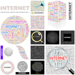 INTERNET concept illustration. GREAT COLLECTION.