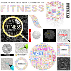 FITNESS concept illustration. GREAT COLLECTION.