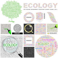 ECOLOGY concept illustration. GREAT COLLECTION.