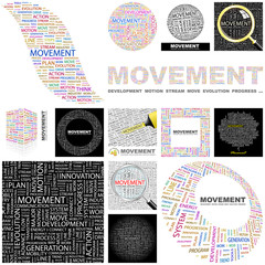 MOVEMENT. Concept illustration. GREAT COLLECTION.