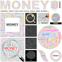 MONEY. Concept illustration. GREAT COLLECTION.