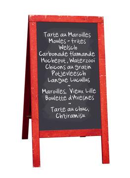 Ardoise restaurant (Nord - Pas de Calais)