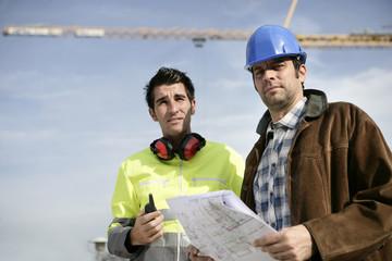 A surveyor and a traffic warden