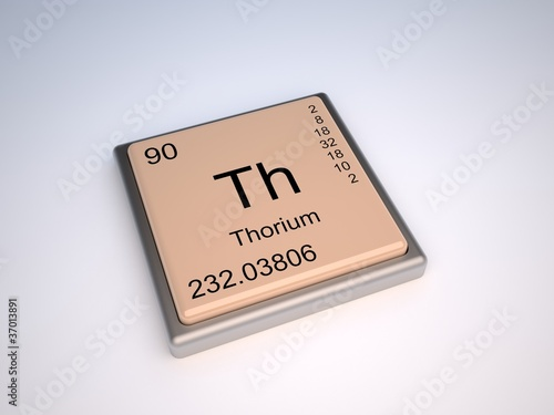 Thorium Element Of The Periodic Table Stock Photo And Royalty