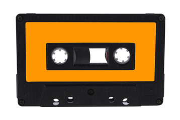 Audio cassette isolated with clipping path