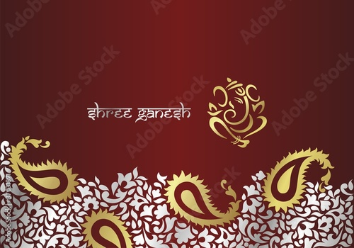 Ganesh Traditional Hindu Wedding Card Design Rajasthan