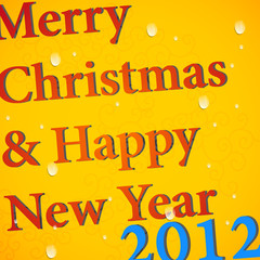 Christmas card typography design