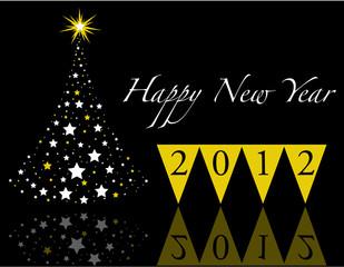 Beautiful New Year Background. 2012
