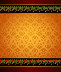 Beautiful Christmas background with garland.