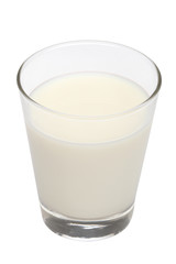 Glass of fresh milk with clipping path
