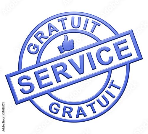 Service Gratuit Cachet Bleu Photo Libre De Droits