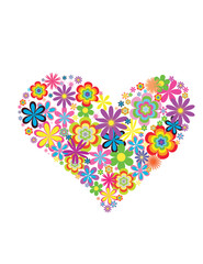 Flower heart in a vector