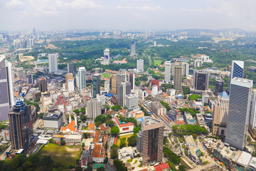 Deurstickers Buenos Aires Kuala Lumpur (Malaysia) city view